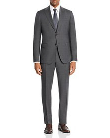 Z Zegna - Mélange Micro-Check Slim Fit Suit - 100%