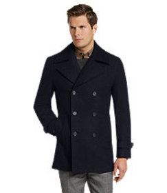 Jos Bank Traveler Collection Tailored Fit Peacoat