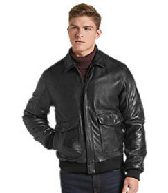 Jos Bank 1905 Collection Tailored Fit Leather Bomb