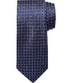 Jos Bank Traveler Collection Grid Tie - Long CLEAR