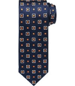 Jos Bank Traveler Collection Squares Tie - Long CL