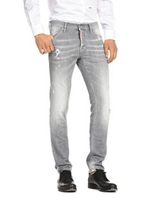 DSQUARED2 - Distressed Cool Guy Slim Fit Jeans in