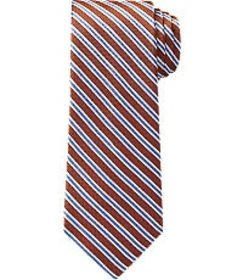 Jos Bank Traveler Collection Stripe Tie - Long CLE