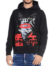 DSQUARED2 - Wolf Graphic Hooded Sweatshirt