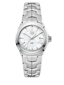 Tag Heuer Link Mother-of-Pearl and Stainless Steel
