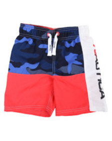 Nautica nautica logo swim trunks (4-7)