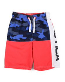 Nautica nautica logo swim trunks (8-20)