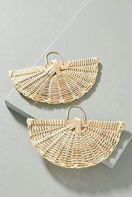 Anthropologie Sunbathing Wicker Drop Earrings