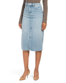 FREE PEOPLE Wilshire Denim Midi Skirt