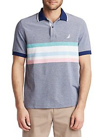 Nautica Striped Oxford Polo Shirt MULTI