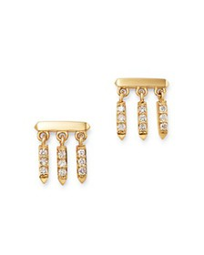 Bloomingdale's - Diamond Droplet Earrings in 14K Y