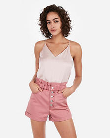 Express super high waisted exposed fly cinched wai