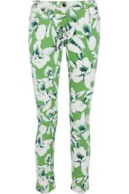 ETRO Floral-print mid-rise skinny jeans