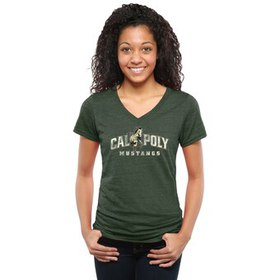 Cal Poly Mustangs Women's Classic Primary Tri-Blen