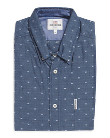 BEN SHERMAN Clip Dot Checkerboard Shirt