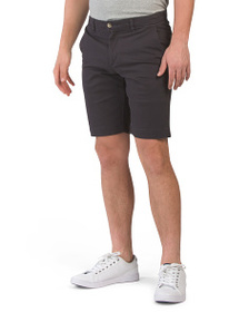 BEN SHERMAN Script Stretch Sueded Shorts