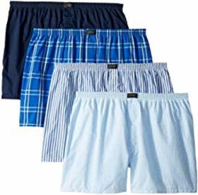Jockey Active Blend Woven Boxer 4-Pack