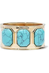 KENNETH JAY LANE Gold-tone stone cuff