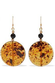 KENNETH JAY LANE Gold-tone, bead and resin earring