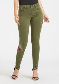 Tall Camila Embroidered Skinny Jeans