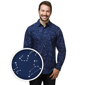 Constellations Long Sleeve Button-Down Shirt