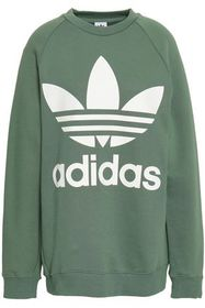 ADIDAS ORIGINALS Printed French cotton-terry sweat
