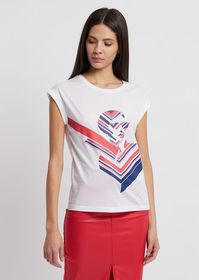 Armani Jersey T-shirt with pop print