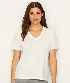 P.J. Salvage Heart Embroidered T-Shirt
