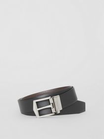 Burberry Reversible London Leather Belt in Black/c