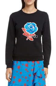 KENZO Floral Embroidered Sweatshirt
