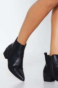 Nasty Gal Womens Black Get a Move On Chelsea Boot