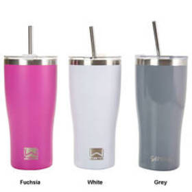 Gourmet Home 30oz. Double Wall Steel Tumbler with