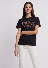 Armani Jersey T-shirt with logo on the front and e