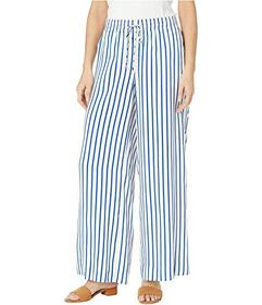LAUREN Ralph Lauren Striped Drawcord Twill Pants