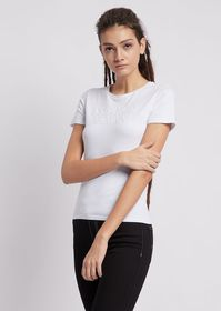 Armani Stretch cotton jersey T-shirt with Emporio