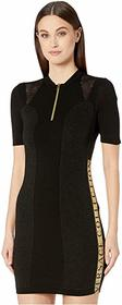 Versace Collection Zip Knit Taping Detail Dress
