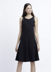 Armani Dress in Milano-stitch fabric with pleated