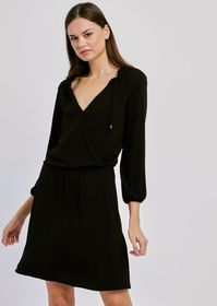 Armani Viscose dress with V-neck and side ties
