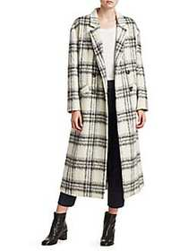 Elizabeth and James Maya Plaid Wool-Blend Boxy Coa