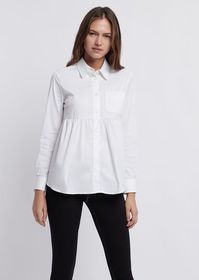Armani Poplin shirt with frill and chest pocket