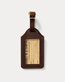 Ralph Lauren Pebbled Leather Luggage Tag