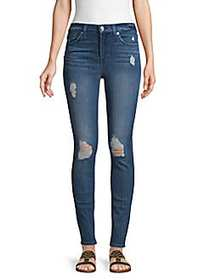 7 For All Mankind Distressed Skinny Jeans BRADESTR