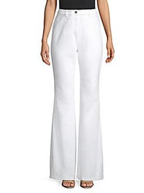 Michael Kors Flare Denim Pants OPTIC WHITE