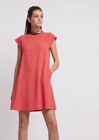 Armani Flared dress with embroidered collar and co