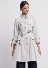 Armani Trench coat in taffeta with bows on the sle