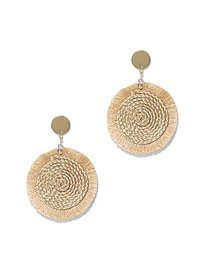 Tassel-Accent Disk Drop Earring - New York & Compa