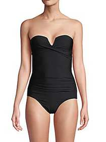 Calvin Klein Bandeau 1-Piece Swimsuit BLACK