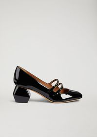 Armani Mary Jane in nappa leather with patent hexa