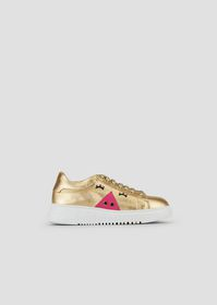 Armani Nappa leather sneakers with high metal sole