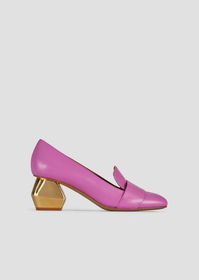 Armani Nappa leather court shoes with chrome-plate